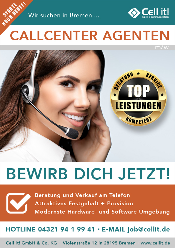 Call Center Agent (w/m) in Bremen